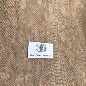 Alligator  - Golden Alligator Cork Fabric