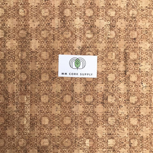 SALE Printed Ornamental Cork Fabric