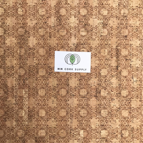 Printed Ornamental Cork Fabric