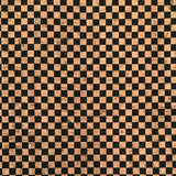SALE Printed Checkers in Black Cork Fabric