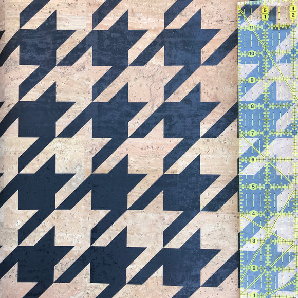 Printed Large Houndstooth Cork