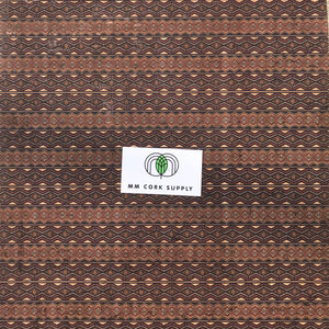 Printed Diamond Lines Cork Fabric