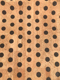 Printed Polka Dots - Large Black on Natural