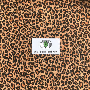Printed Cheetah Cork Fabric