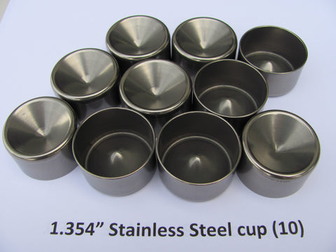 "1.354"" Solvent Trap Cup. High Wall Stainless!"