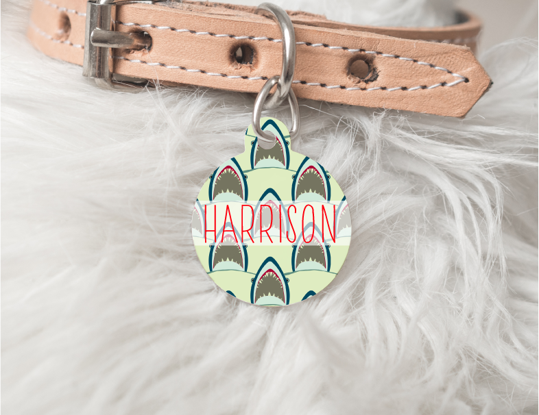 Jaws Personalized Pet Tag 31 - BirchBearCo