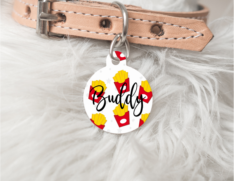 French Fry Personalized Pet Tag 52 - BirchBearCo