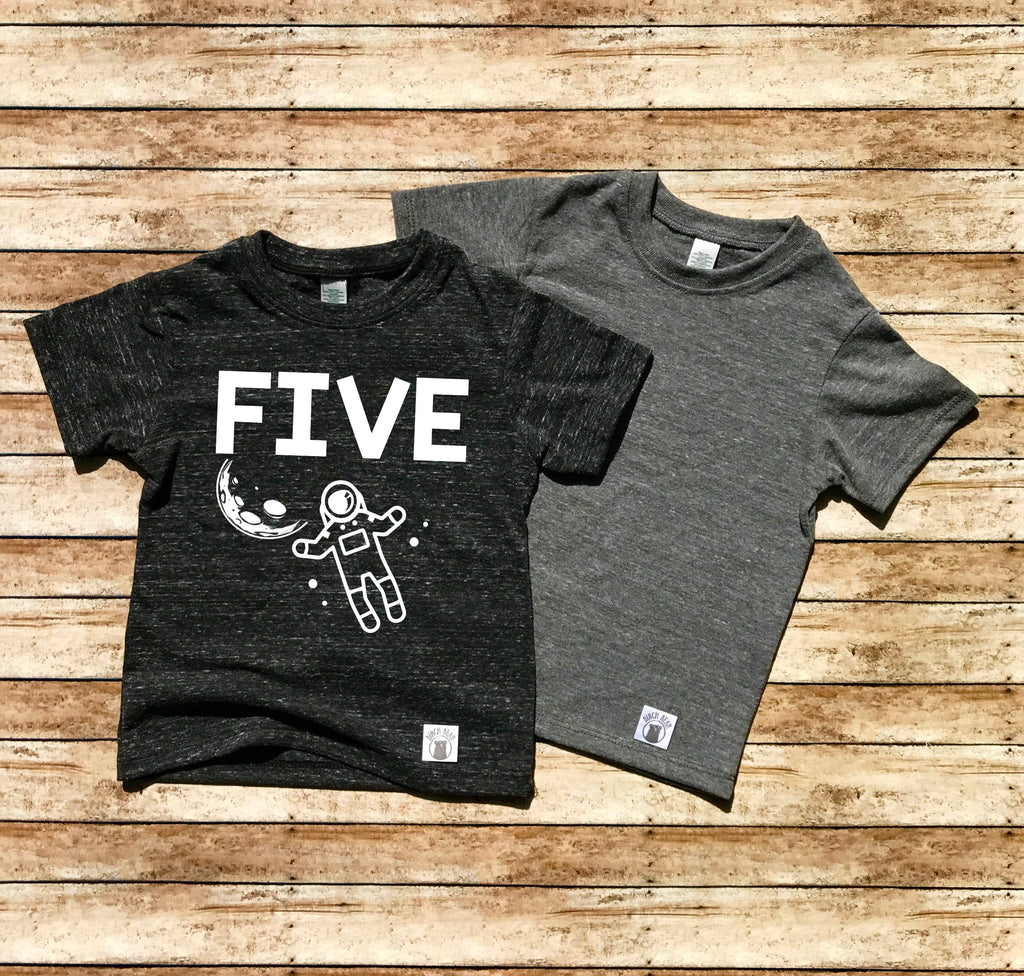 5th Birthday Shirt - Space Shirt - BirchBearCo