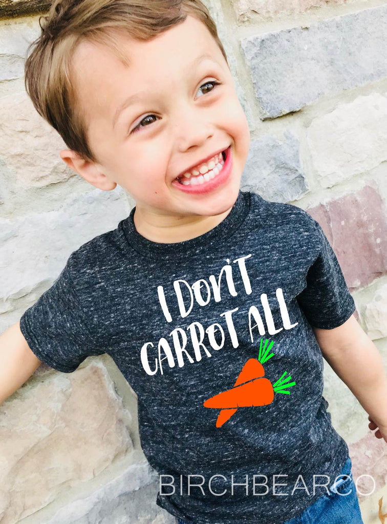 I Dont Carrot All | Unisex Kids Easter Shirt - BirchBearCo