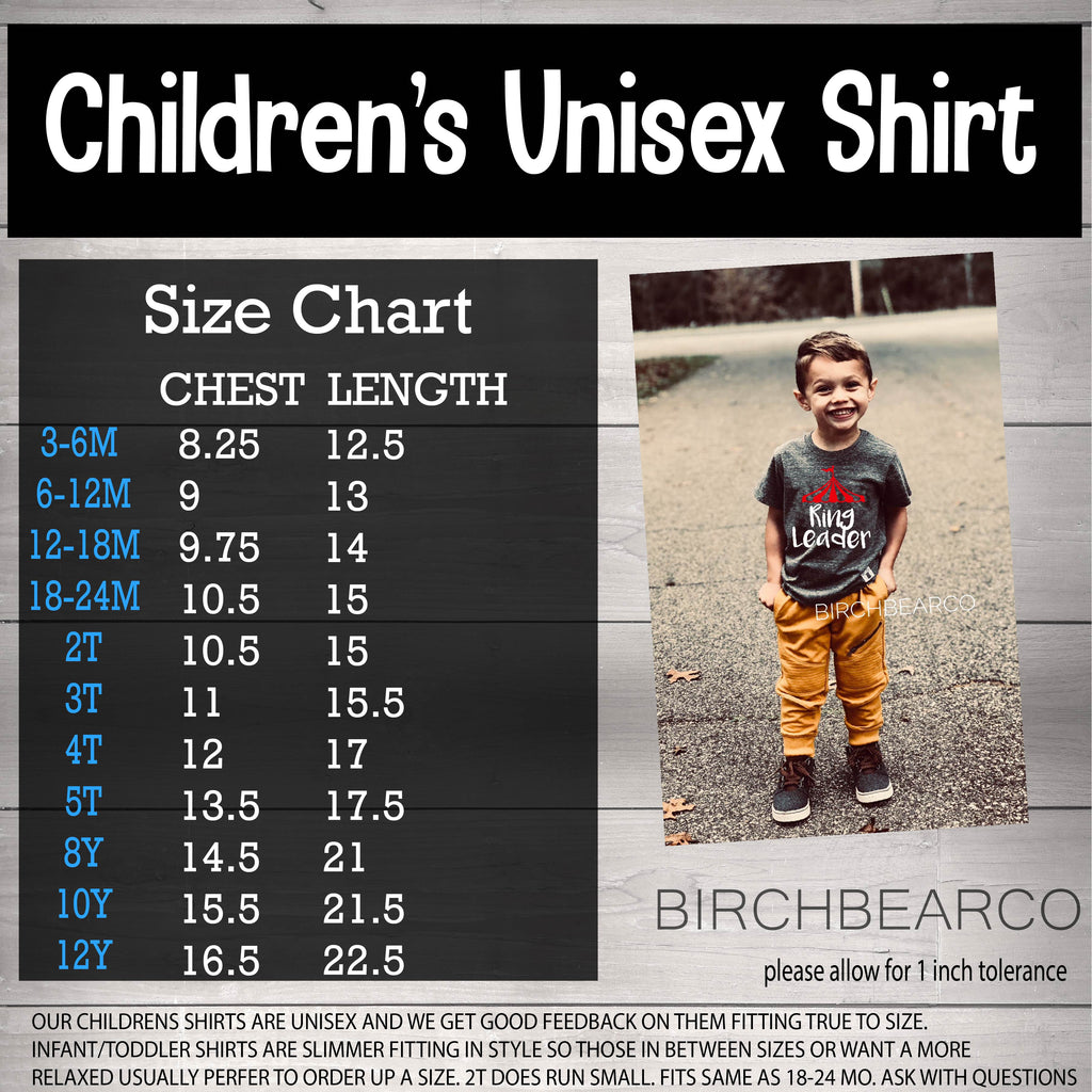 Children and Toddler Custom Shirt - BirchBearCo