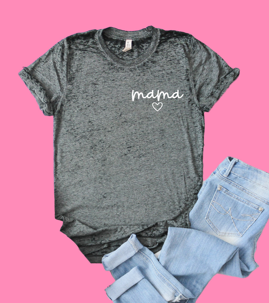 Simply Mama Heart Shirt | Mom Shirt | Acid Wash T Shirt | Unisex Crew - BirchBearCo