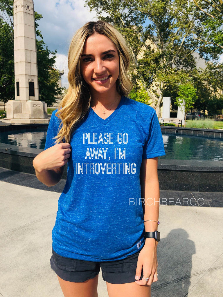 Please Go Away Im Introverting Shirt - BirchBearCo