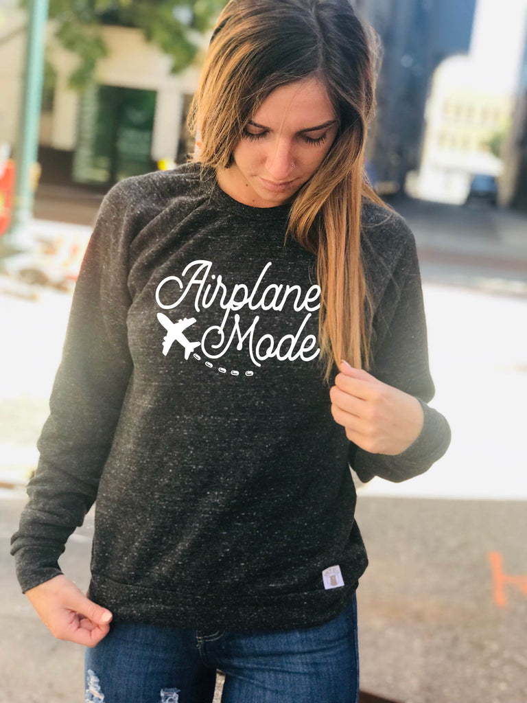 Airplane Mode Sweatshirt | Vacation Sweatshirt - BirchBearCo