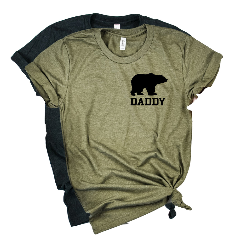 Daddy Bear Pocket Shirt | Mens Shirt | Dad Shirt | Husband Shirt - BirchBearCo