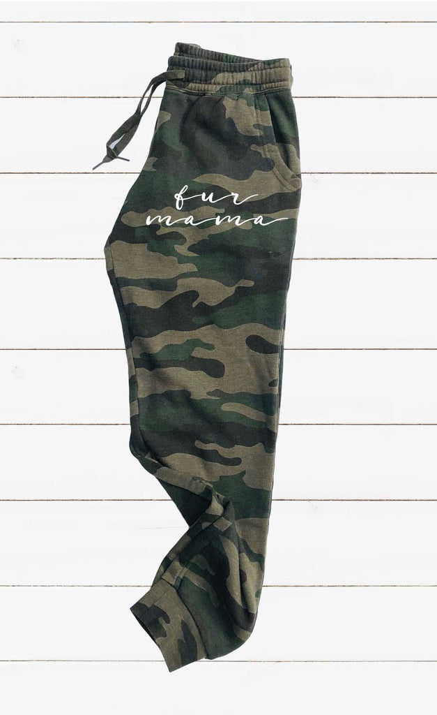 Fur Mama Graphic Women's Soft Washed Sweatpants - BirchBearCo