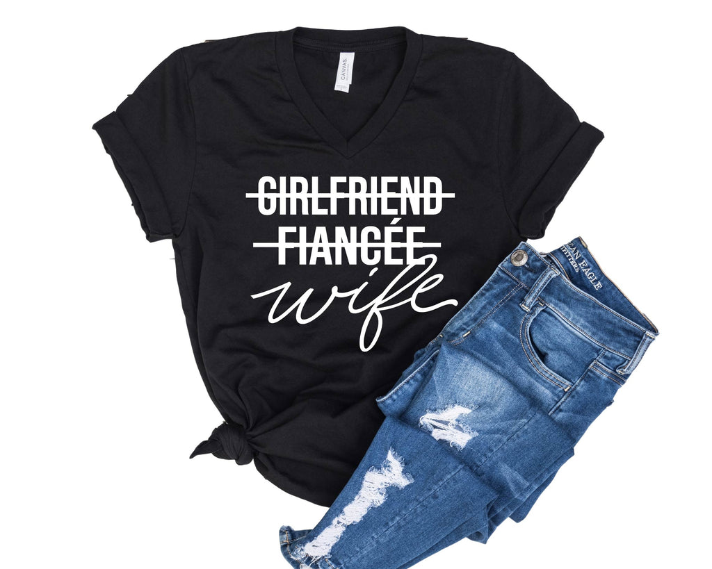 Girlfriend Fiancee Wife Shirt - Unisex V Neck - BirchBearCo