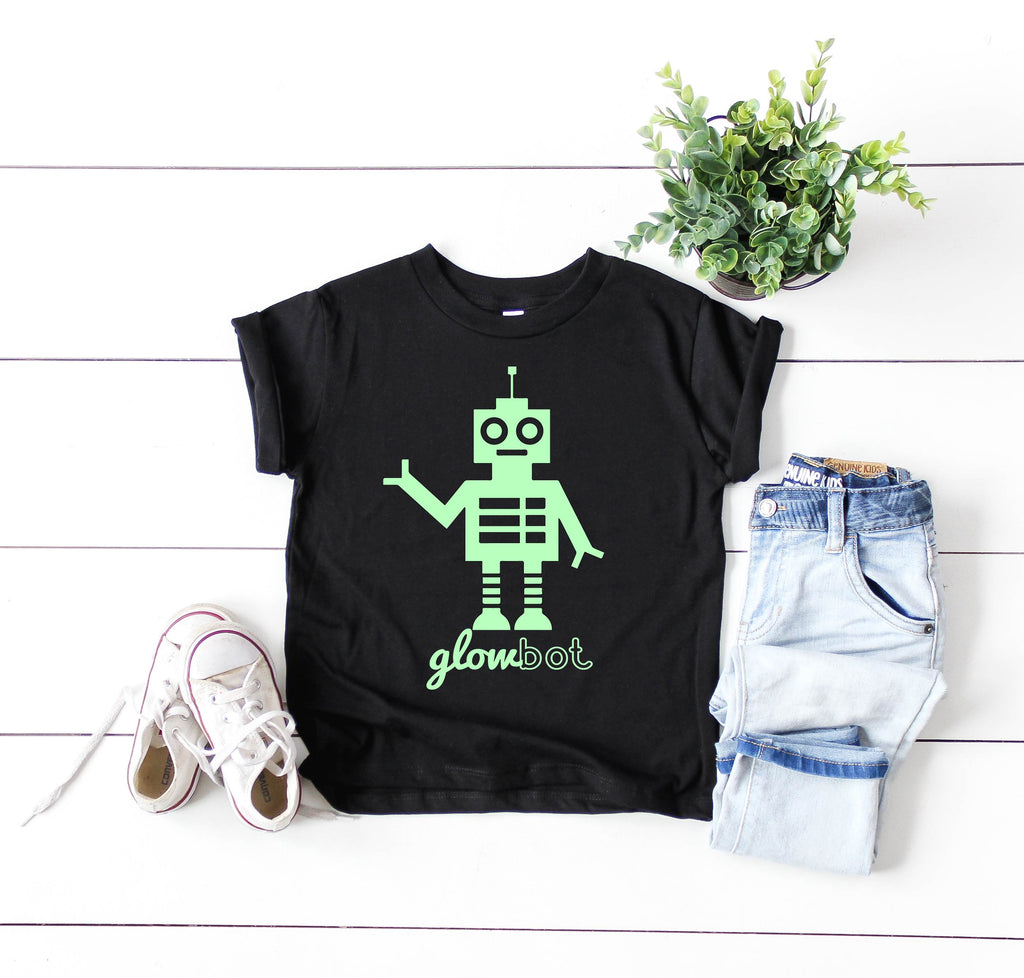 Glowbot Shirt | Kids Glow In The Dark Shirt - BirchBearCo