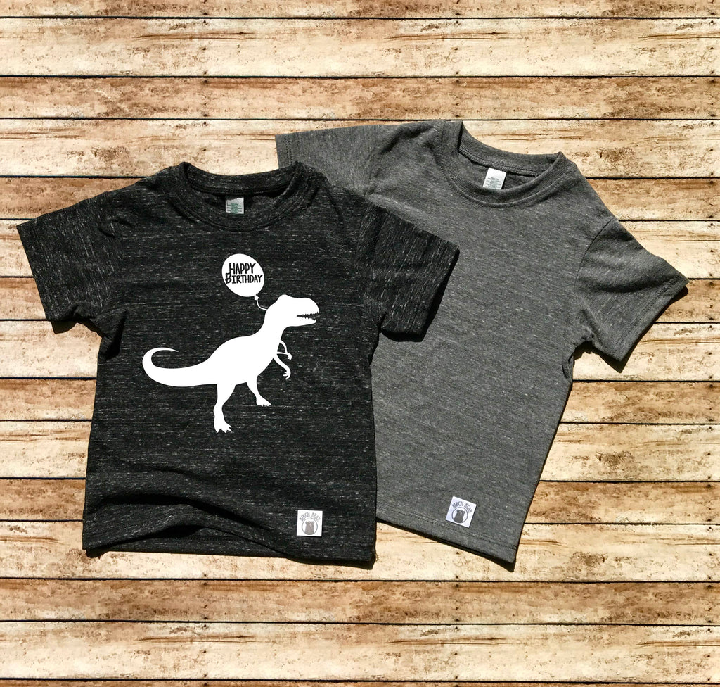Happy Birthday Dinosaur Shirt - Trending Kids Shirt - BirchBearCo