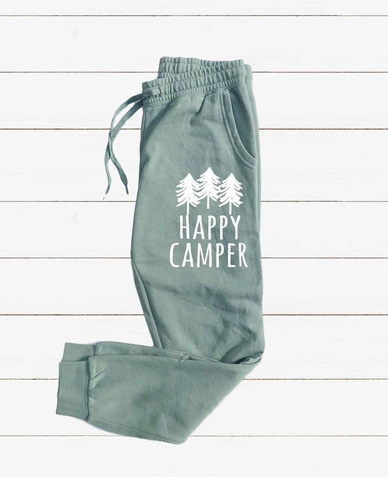 Happy Camper Graphic Women's Soft Washed Sweatpants - BirchBearCo