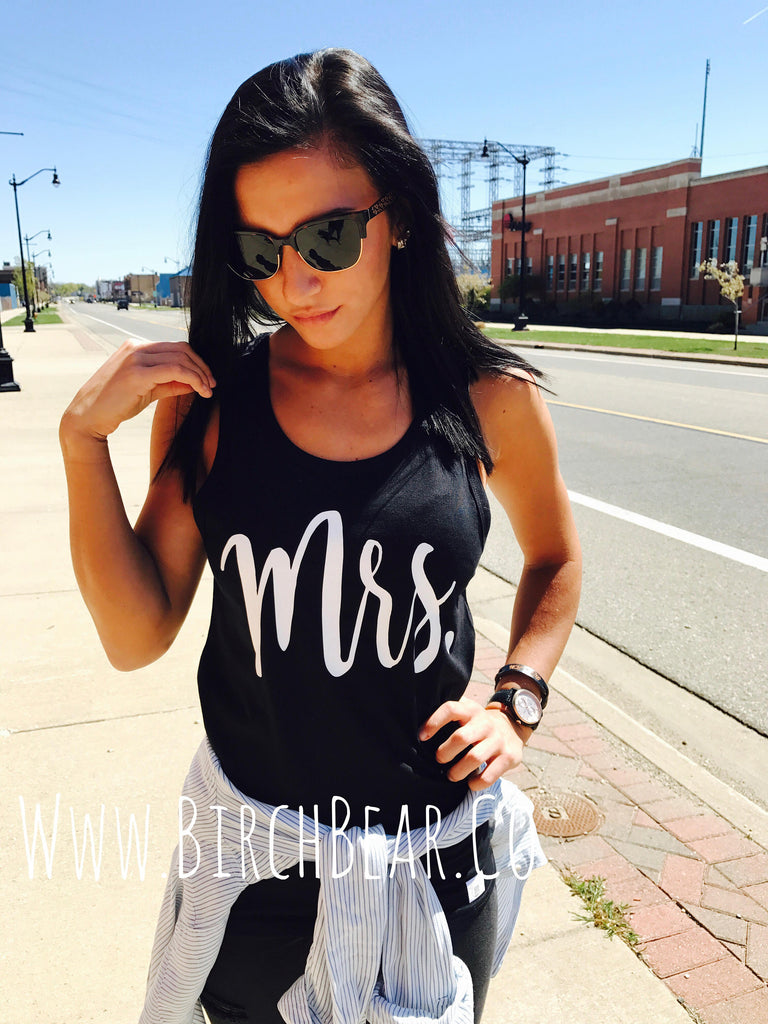 Mrs Tank - Mrs Honeymoon Shirt - BirchBearCo