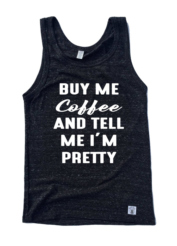 Unisex Triblend Tank Top Buy Me Coffee And Tell Me I'm Pretty Graphic Tank Top - BirchBearCo