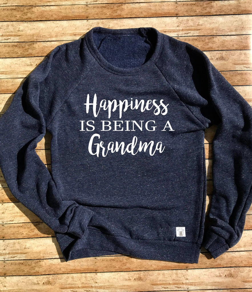 Happiness Is Being a GrandmaCrew Neck Sweatshirt - BirchBearCo