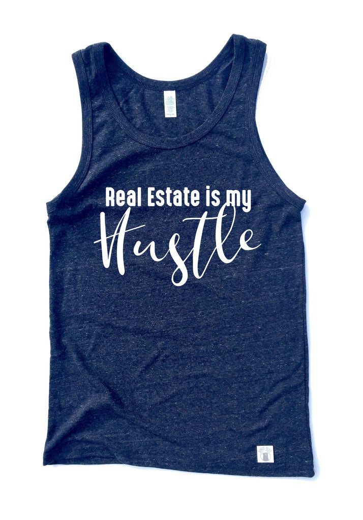 Unisex Triblend Tank Top - Real Estate Is My Hustle Shirt - Real Estate Shirt - Real Estate T Shirt - - BirchBearCo