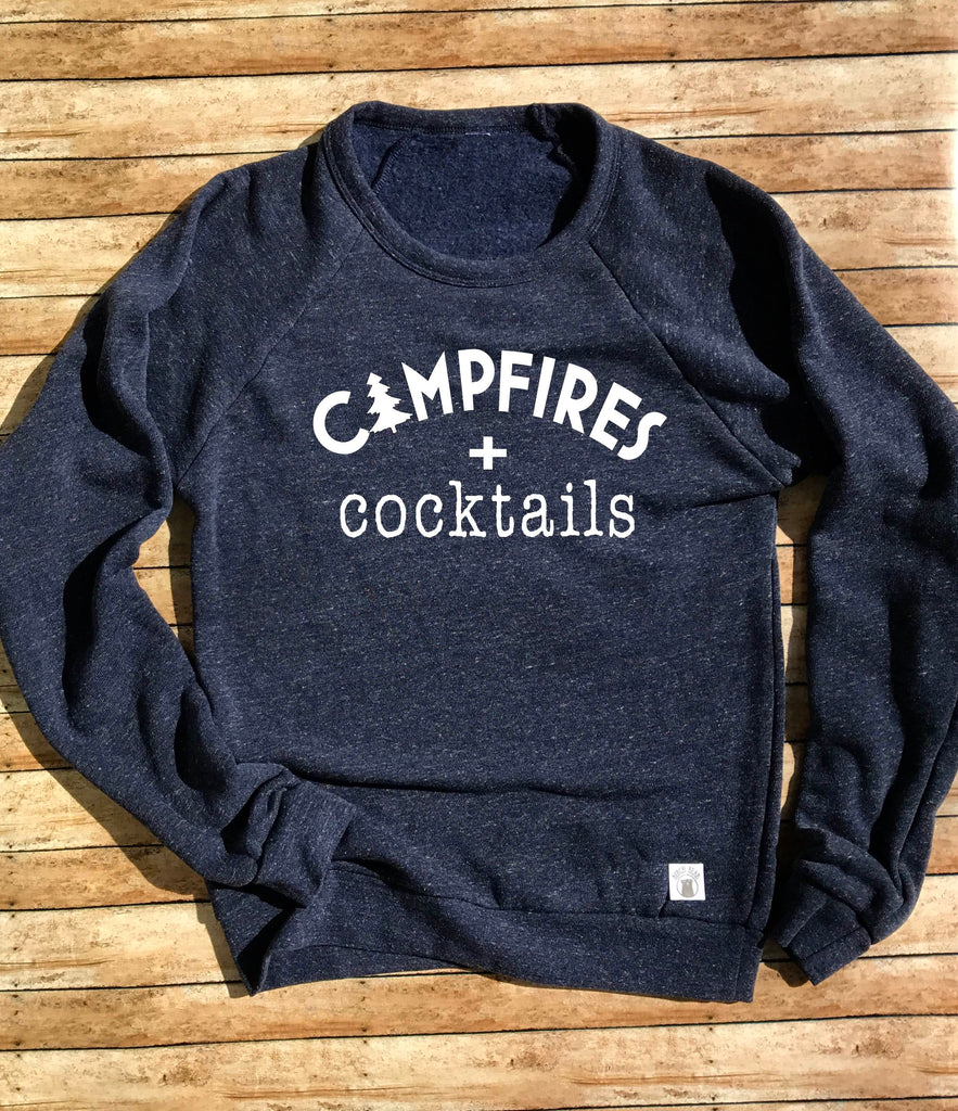 Campfires and Cocktails Sweatshirt - BirchBearCo