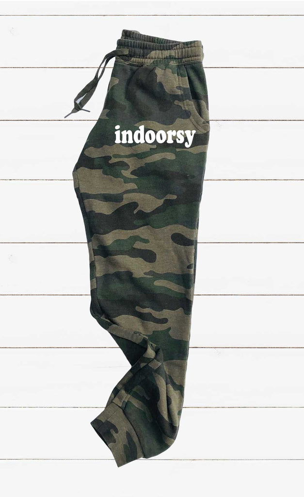 Indoorsy Graphic Women's Soft Washed Sweatpants - BirchBearCo