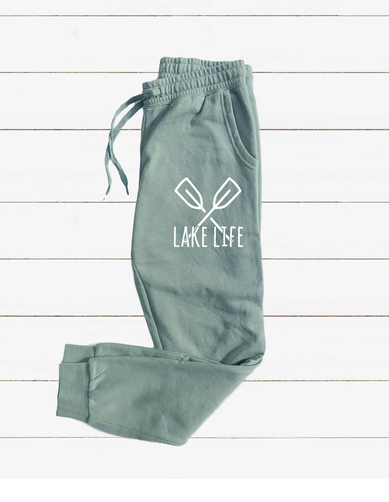 Lake Life Graphic Women's Soft Washed Sweatpants - BirchBearCo