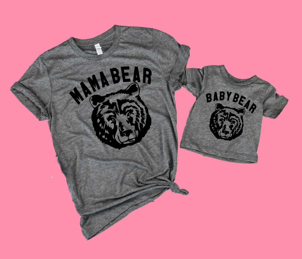 Mommy and Me Shirts | Mama Bear Baby Bear Shirts - BirchBearCo