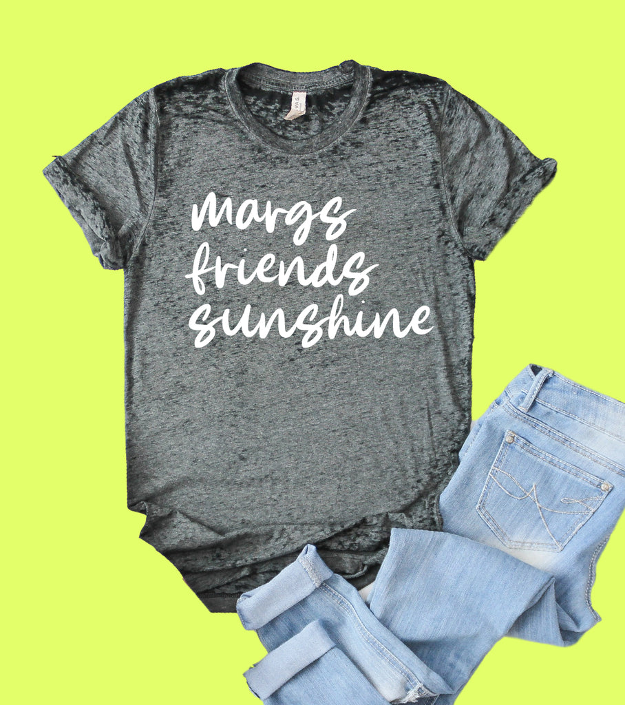 Margs Friends Sunshine Shirt | Acid Wash T Shirt | Unisex Crew - BirchBearCo
