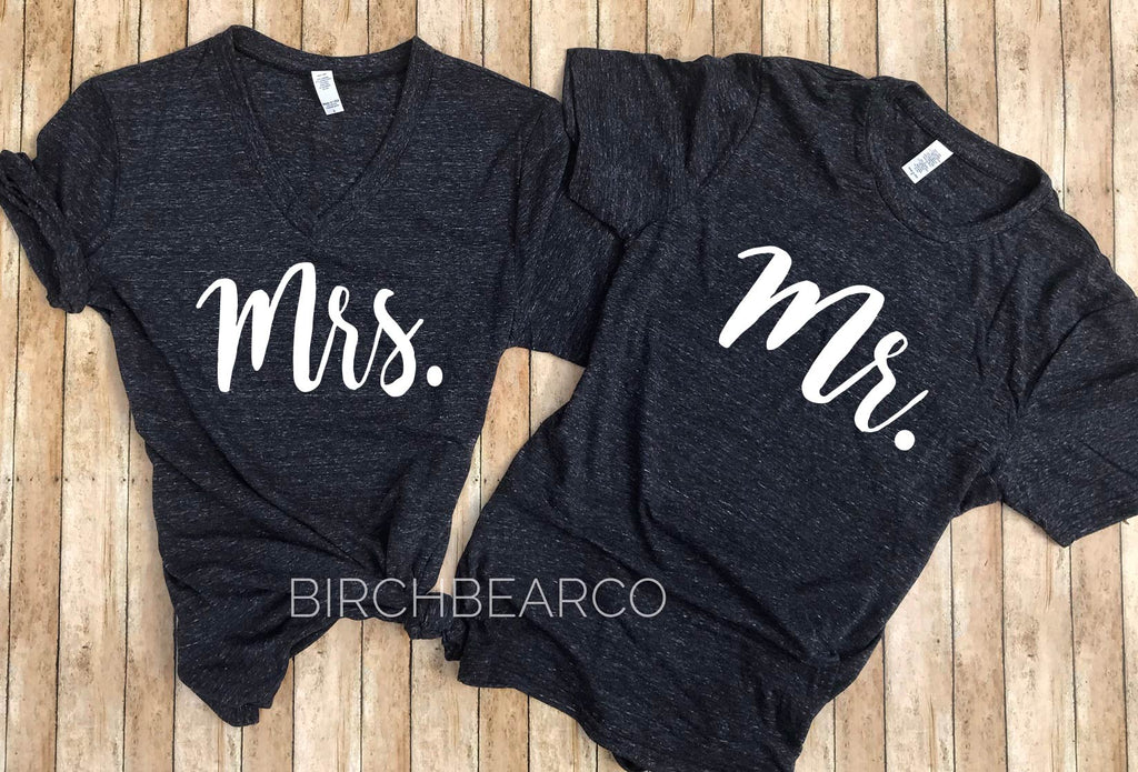 Mr And Mrs Shirts - BirchBearCo