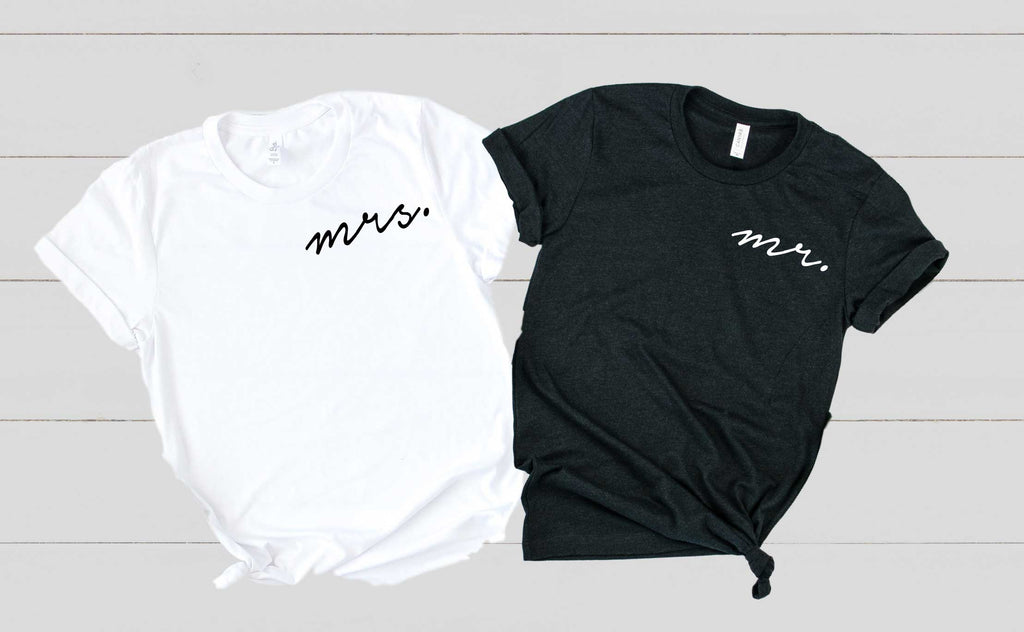 Mr and Mrs Shirts | Unisex Crew - BirchBearCo