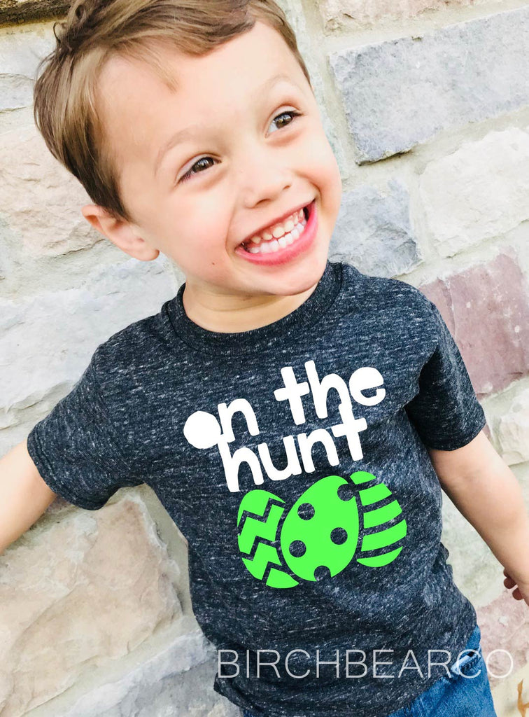 On The Hunt | Unisex Kids Easter Shirt - BirchBearCo