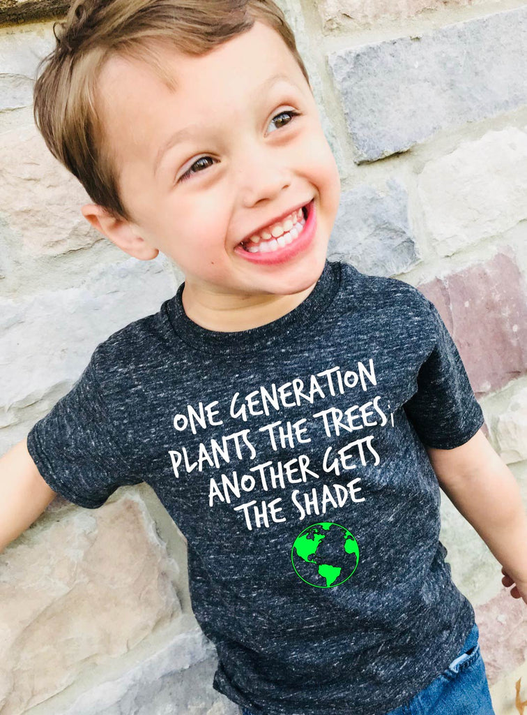 Planet Earth Shirt - Tree Shirt - Earth Day Shirt - Hipster Shirt - Nature Shirt - Earth Day Gift -  Children's Tri-Blend T-Shirt - - BirchBearCo