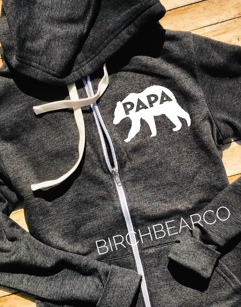 Papa Bear Hoodie -  Papa Bear Shirt - Daddy Bear Sweatshirt - Gift for Dad - Papa Shirt - - BirchBearCo