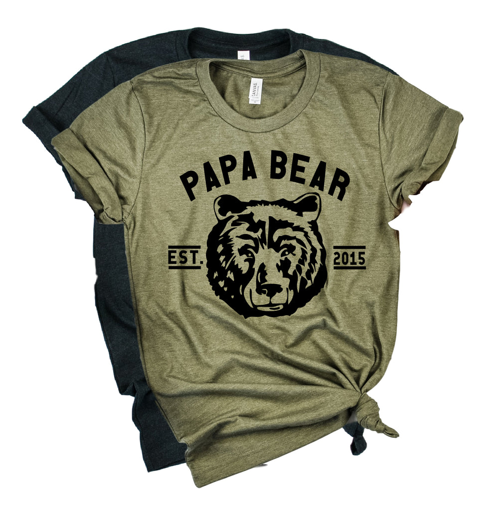 Custom Papa Bear Shirt | Mens Shirt | Dad Shirt | Husband Shirt - BirchBearCo