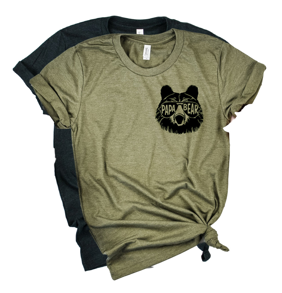 Papa Bear Pocket Shirt | Mens Shirt | Dad Shirt | Husband Shirt - BirchBearCo
