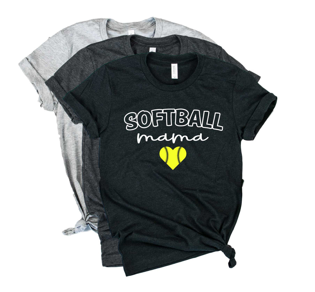 Softball Mama Shirt | Softball Mom Shirt | Mom Shirt | Unisex Crew - BirchBearCo