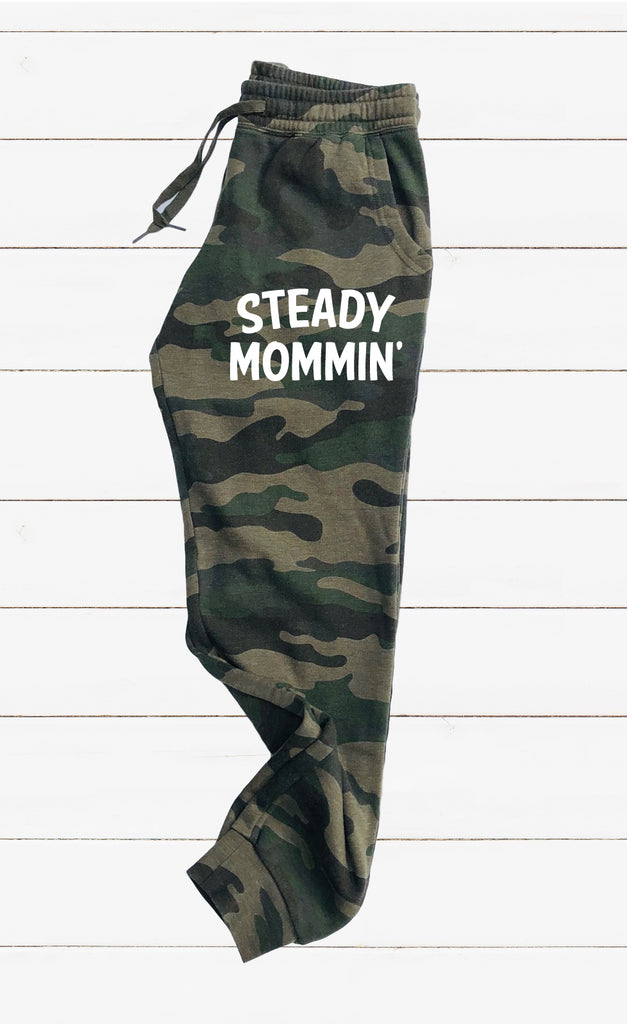 Steady Mommin Graphic Women's Soft Washed Sweatpants - BirchBearCo