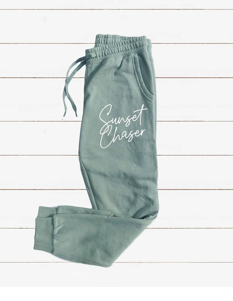Sunset Chaser Graphic Women's Soft Washed Sweatpants - BirchBearCo