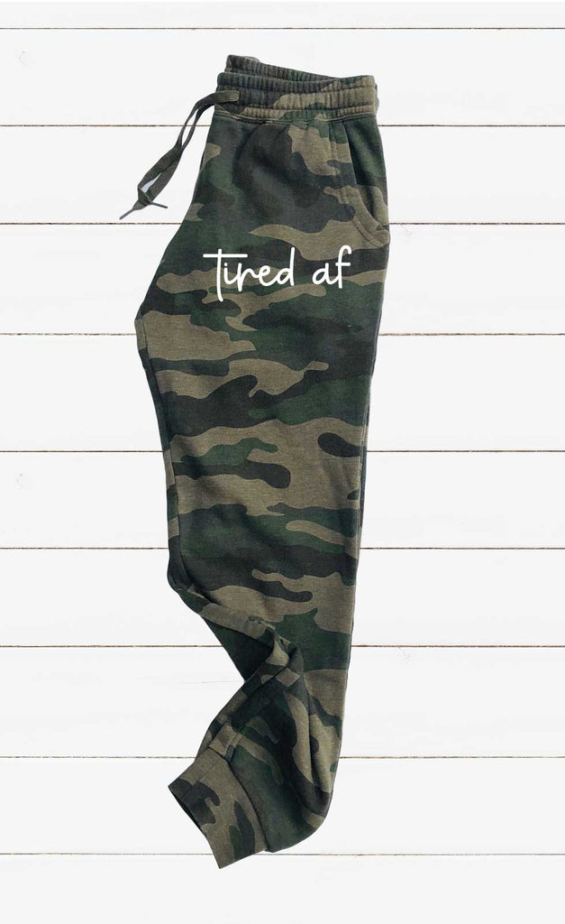 Tired AF Graphic Women's Soft Washed Sweatpants - BirchBearCo