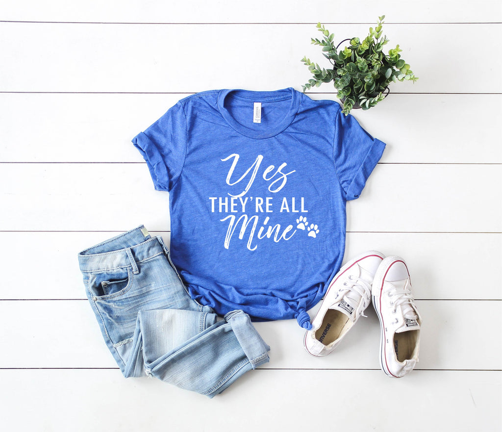 Yes They're All Mine - They Are All Mine - Funny Mom Shirt - Mama Shirt - Full Hands Full heart Shirt Mama Bear - BirchBearCo