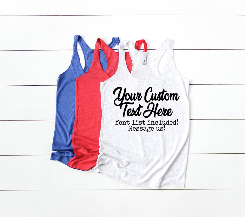 Custom Women's Fitting Racer Tank Shirt - BirchBearCo