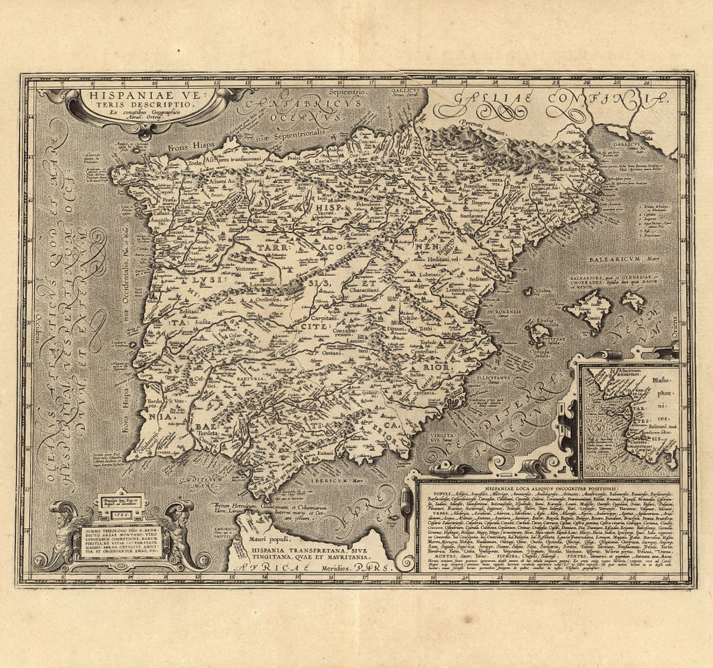 Historical Map Of Spain Th Century Fine Art Reproduction - Spain historical map