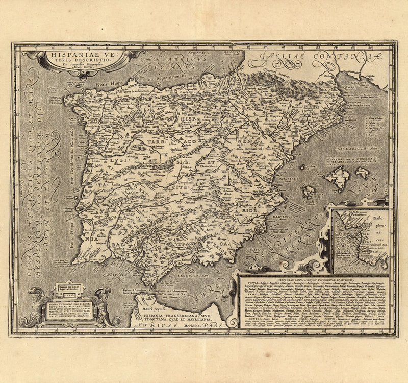 European map historical Spain 16th century