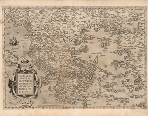 map of Greece Greek Isles historical 16th century
