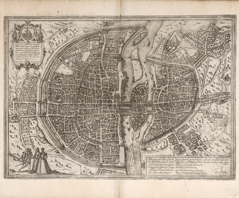 city map Renaissance map of Paris