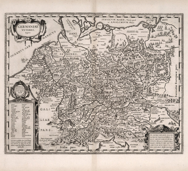 historical map of Germany from 17th century